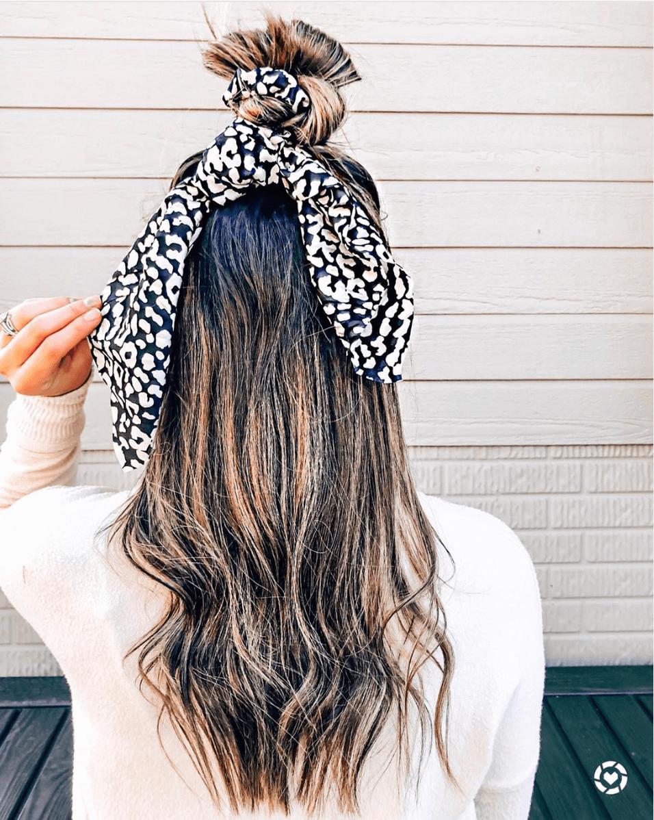 fun hair scarf styles
