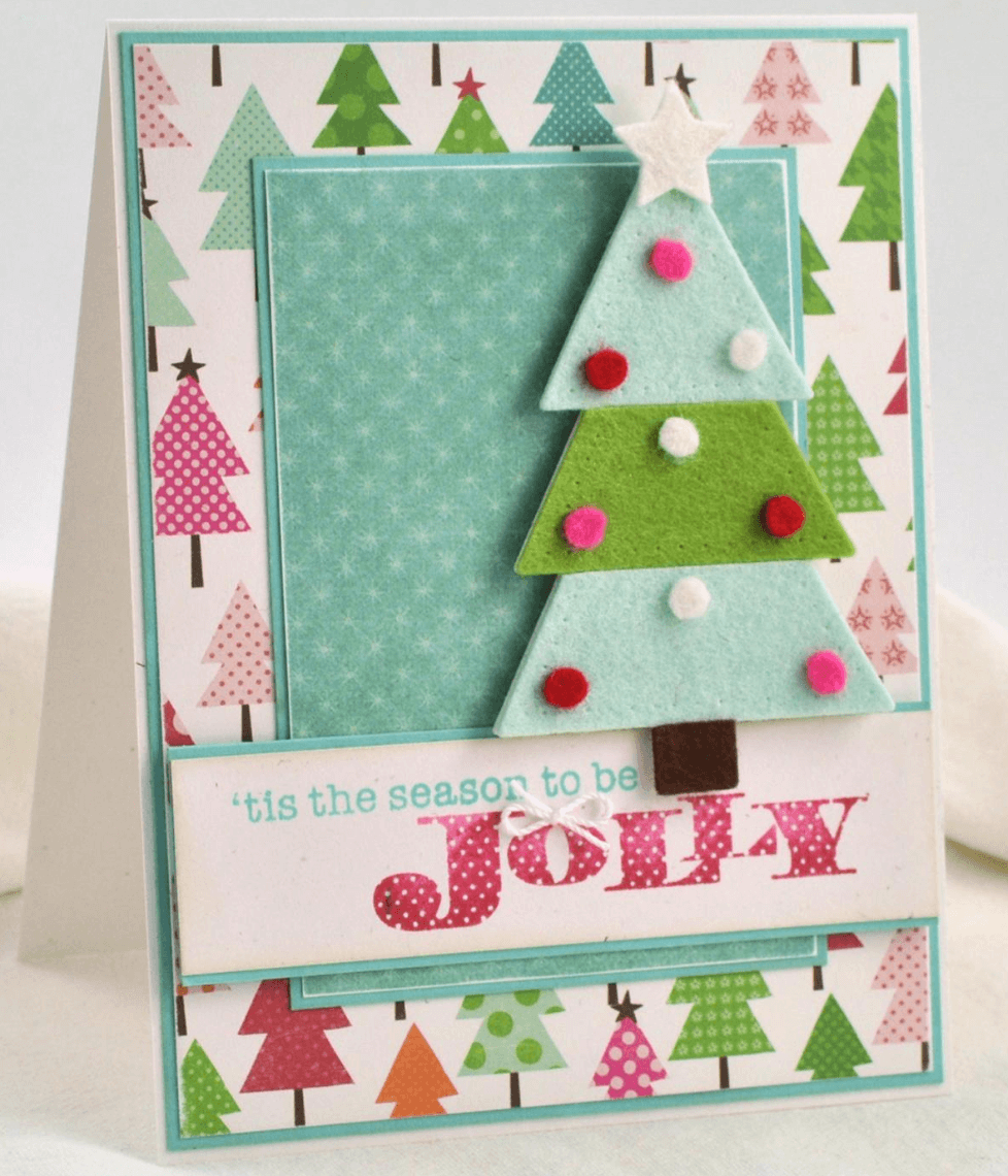 Colourful handmade holiday cards