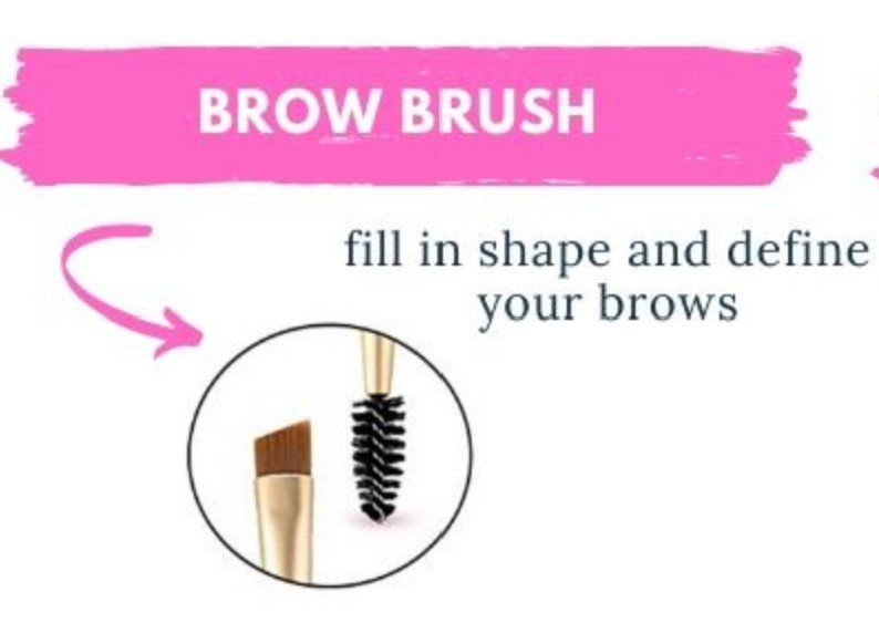 how to use a brow brush