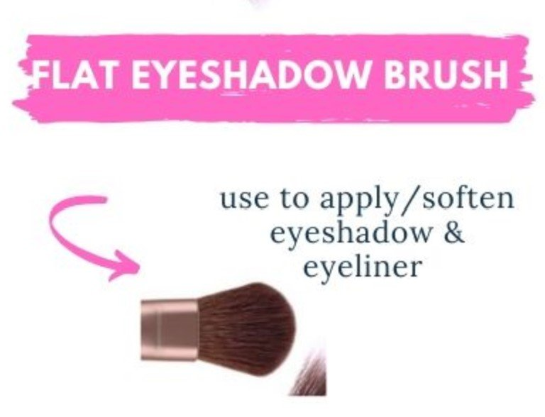 How to use a flat eyeshadow brush