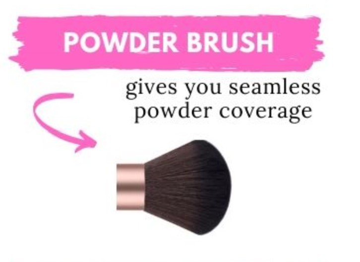 How to use a powder brush