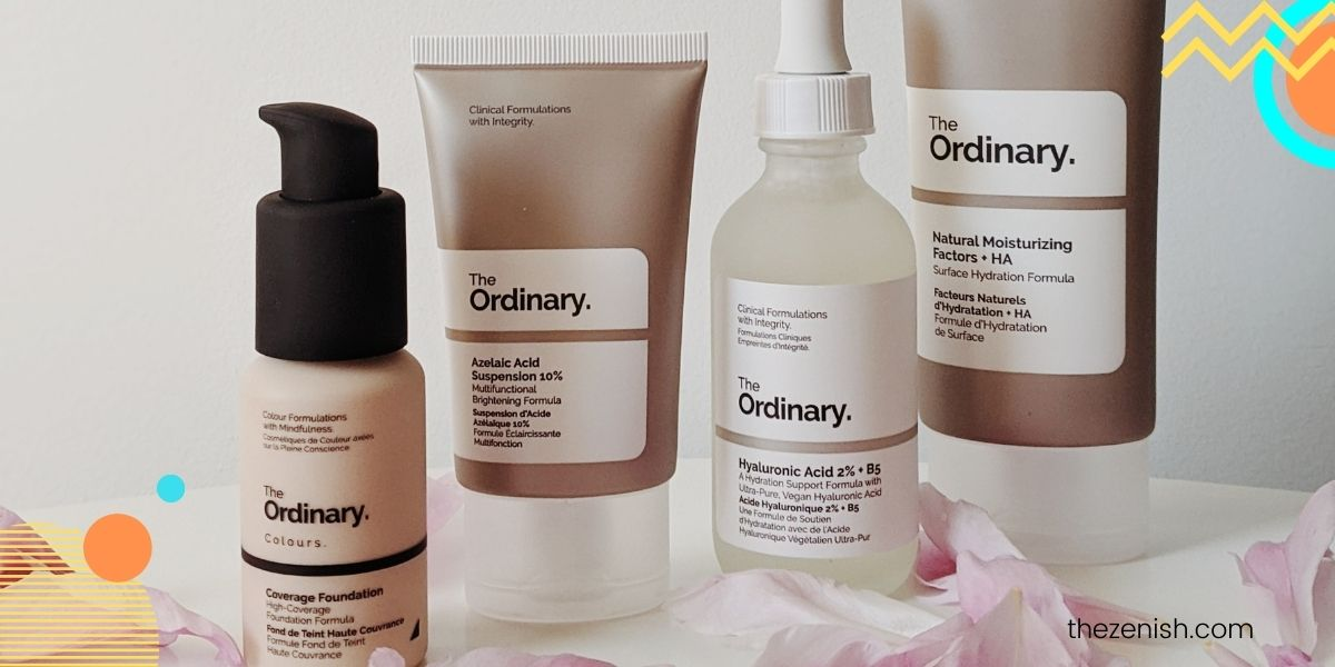 The Ordinary routine for acne prone skin